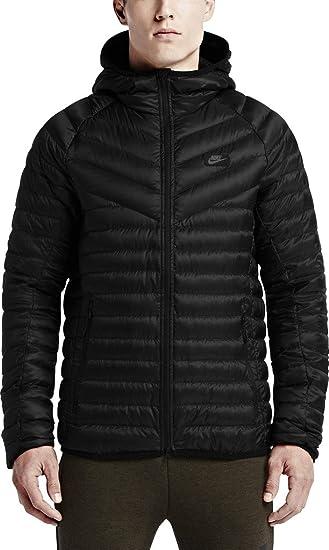 44d07a8a6061b Amazon.com: Nike Men's Guild 550 Full-Zip Hooded Jacket (XL, Black):  Clothing