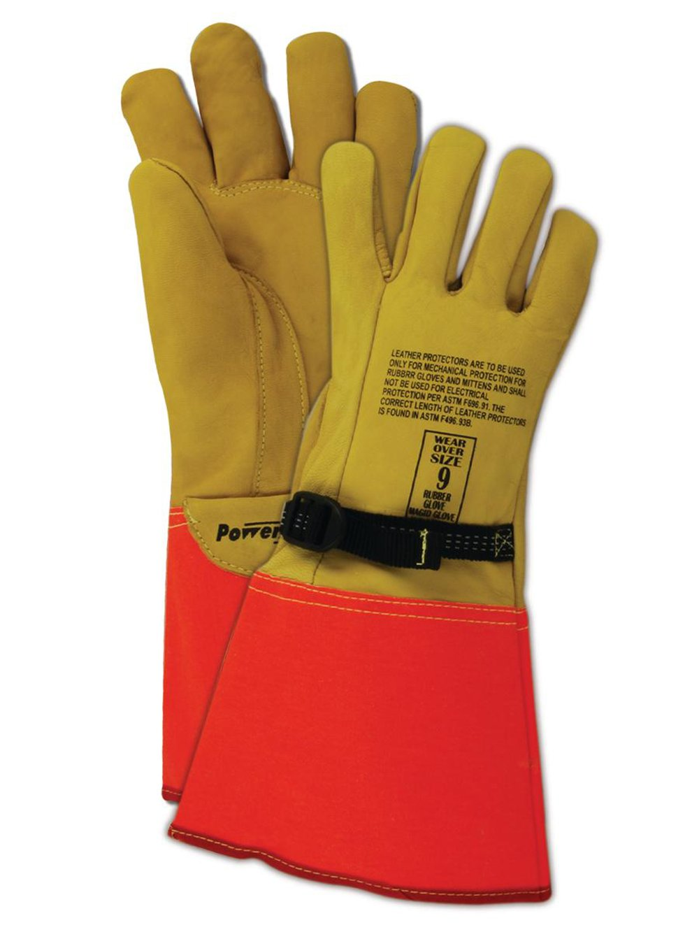 Gauntlet cuff leather work gloves - Magid Powermaster 606075ion Leather Glove For Use With High Voltage Gauntlet Cuff 14 Length Size 8 One Pair Work Gloves Amazon Com Industrial