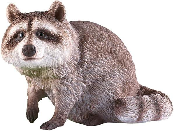 Charming Realistic Standing Raccoon Garden Statue