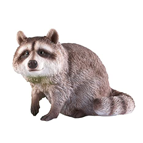 Collections Etc Sitting Raccoon Garden Statue - Outdoor Decorative  Realistic Statue for Yard, Garden, or Any Room in Home