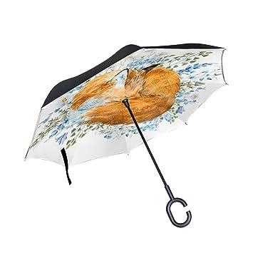 BENNIGIRY Paraguas invertido para Dormir – Reverso Plegable en el Interior hacia Fuera – Paraguas de