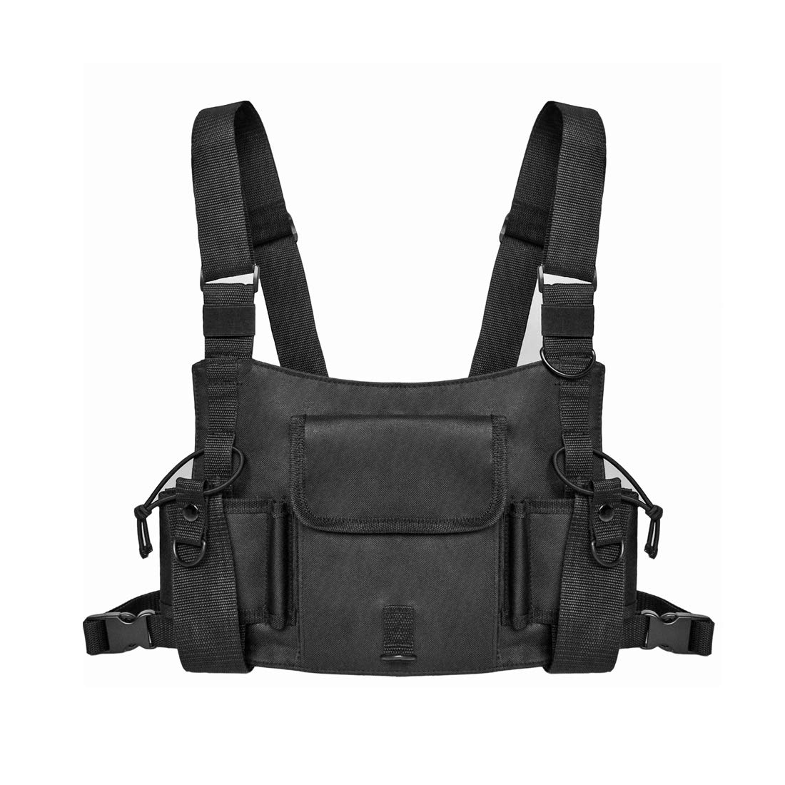Universal Radio Harness Chest Rig Hands Free Chest Pocket Bag Holster Holder Vest Rig for Two Way Radio