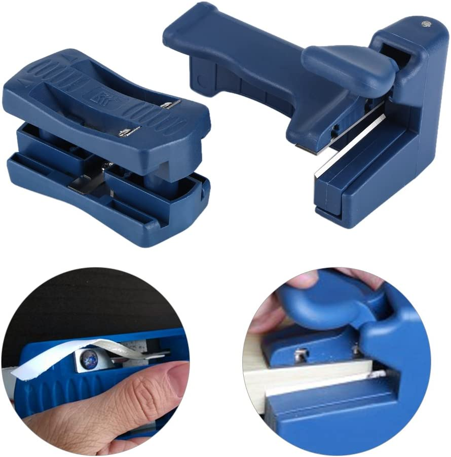 ViaGasaFamido Wood Edge Banding Trimmer Double Edge End Cutting Device Tail Trimmer Cabinet Making Woodworking Manual Trimming Carpenter Tool