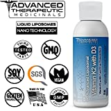 Advanced Liposomal Vitamin K2 with D3 - Pharmaceutical Grade Liquid Liposomes by Advanced Medicinal Therapeutics - 4 oz. No Soy, Non GMO, Vegan, Made in The USA