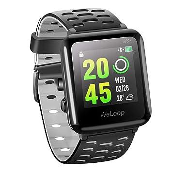 VICTSING Reloj Inteligente GPS con Ritmo Cardíaco, Smartwatch Fitness WeLoop Hey 3S con Cronómetro, Reloj Deportivo 5ATM Impermeable Natación para iOS y ...
