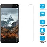 Frlife Tempered Glass for Blackview A7, Anti Scratch Hardness Rating Screen Protector for Blackview A7 (Crystal Clear Ultra-Thin)