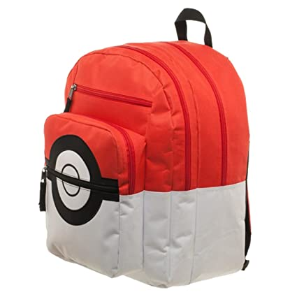 BIOWORLD Pokemon Pokeball Backpack with Trainer Bag Charm  Amazon.in  Bags 88c635c9862eb