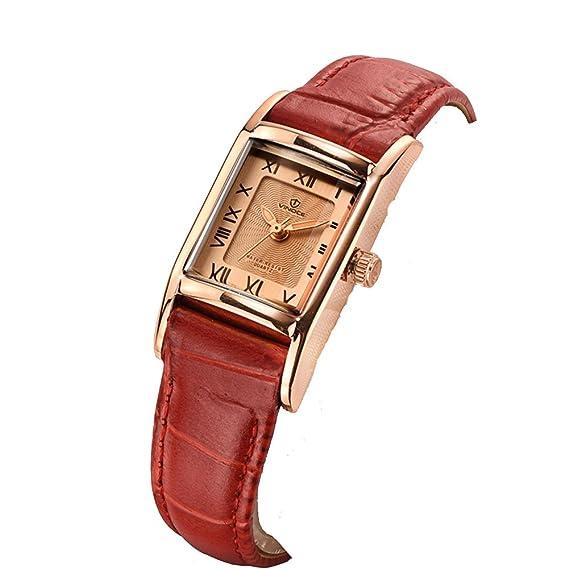 Reloj vintage rectangular/Reloj de cuarzo de moda/Luminoso impermeable reloj -A