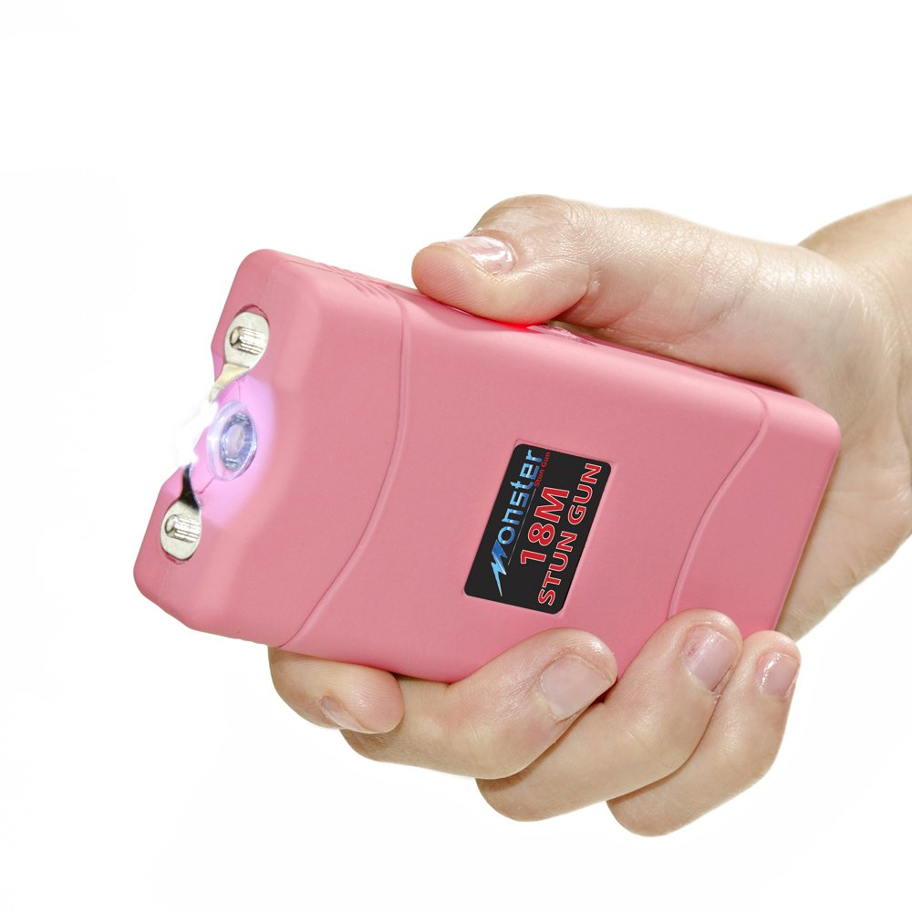 amazoncom monster stun gun rechargeable stun gun with led flashlight 18 000 000 volt pink basic handheld flashlights sports outdoors - Taser Gun Cartoon Coloring Pages