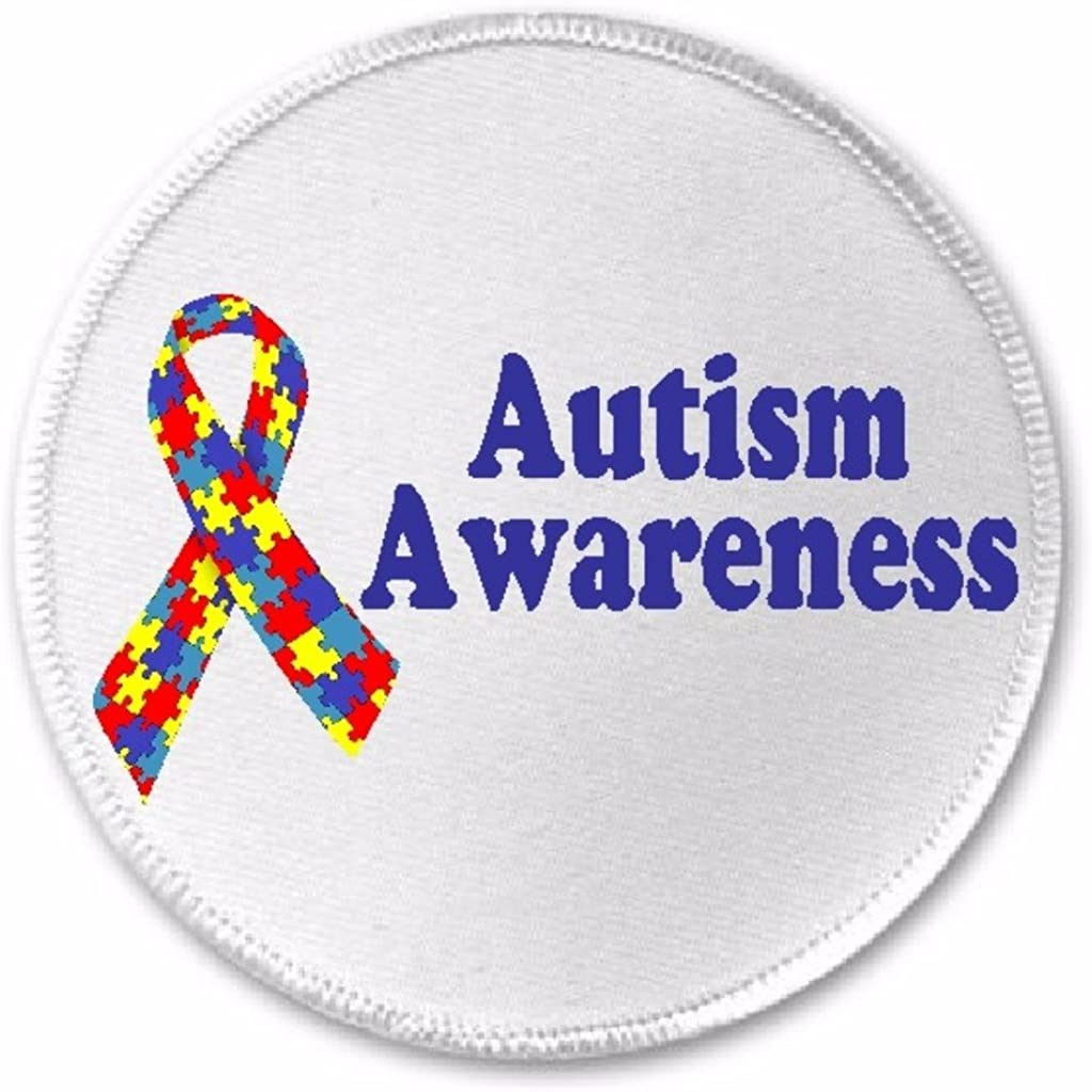 AUTISM AWARENESS MOTORCYCLE BIKER EMBROIDERED VEST PATCH IRON ON