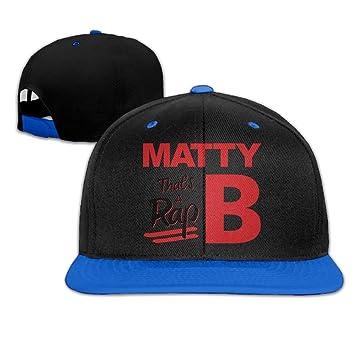 Runy Custom adulto MattyB Rap ajustable Hip Hop sombrero y gorra ...