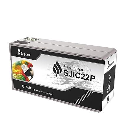 Bigger - Cartuchos de Tinta de Repuesto para Epson Tm-c3500 SJIC22P (K), Tinta Negra Compatible con impresoras Epson Color Works C3500 Pigment Colour ...