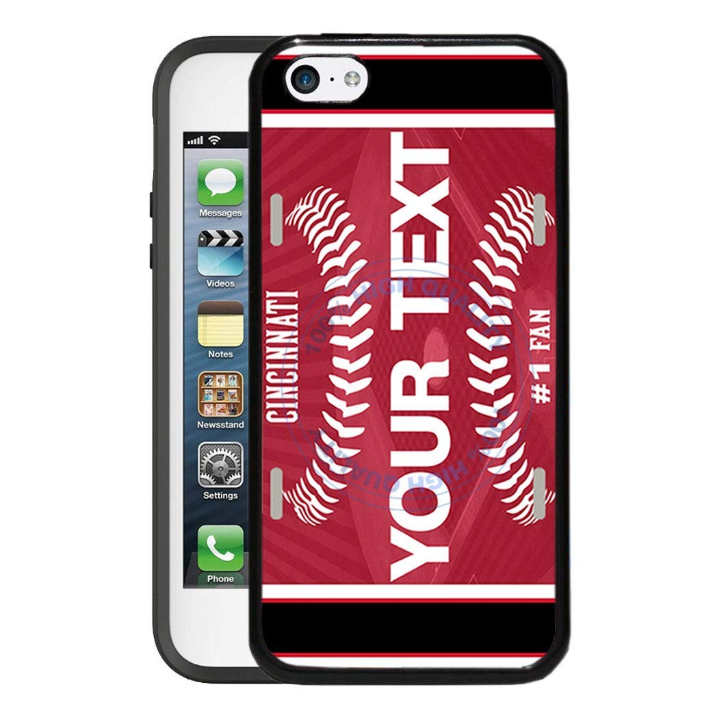 BRGiftShop Personalize Your Own Baseball Team Cincinnati Rubber Phone Case For Apple iPod Touch 5th /& 6th Generation