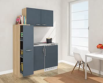 respekta Mini Küche Singleküche 130 cm inkl. Oberschrank ...