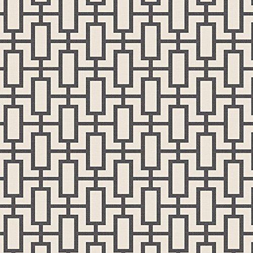 Manhattan comfort NWSH34508 Sheffield Series Vinyl Geometric Link Design Large Wallpaper Roll, 20.5