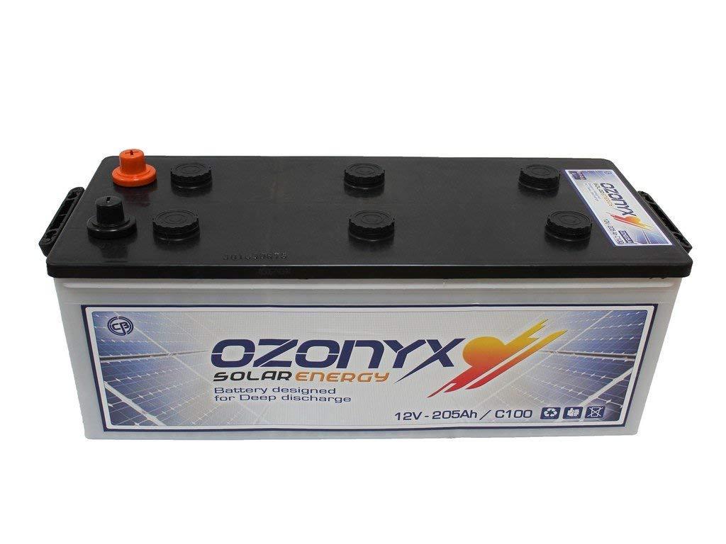 Batería Solar 250Ah 12v Ozonyx Baterias para una descarga profunda utilizo para instalación solar