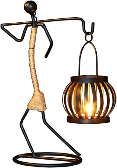 Creative Wrought Iron Candlestick Home Decorations Candlelight Dinner Props Ornaments Candle Holder Retro Table Layout