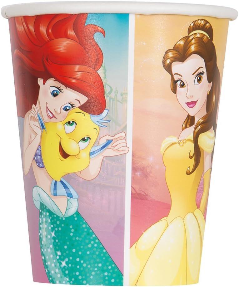 Multicolor Unique Disney Princess Dream Big Paper Cups One Size 8 Pcs