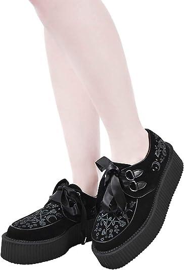 Oracle Creepers Killstar Gothic Goth Okkult Schuhe Sneaker Plateauschuhe