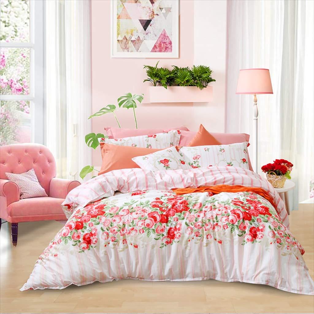 NUBAO 女性の4ピースセット、寝室プリント寝具植物の花ABボード王女スタイル150 Cm / 180 Cmベッド (色 : A, サイズ さいず : 150cm bed) B07QNK87DR A 150cm bed