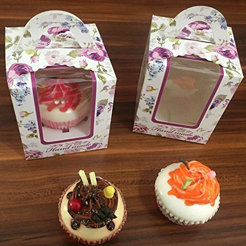 Clear Single Cupcake Box Gift Bakery Boxes Muffin Cupcake Ma