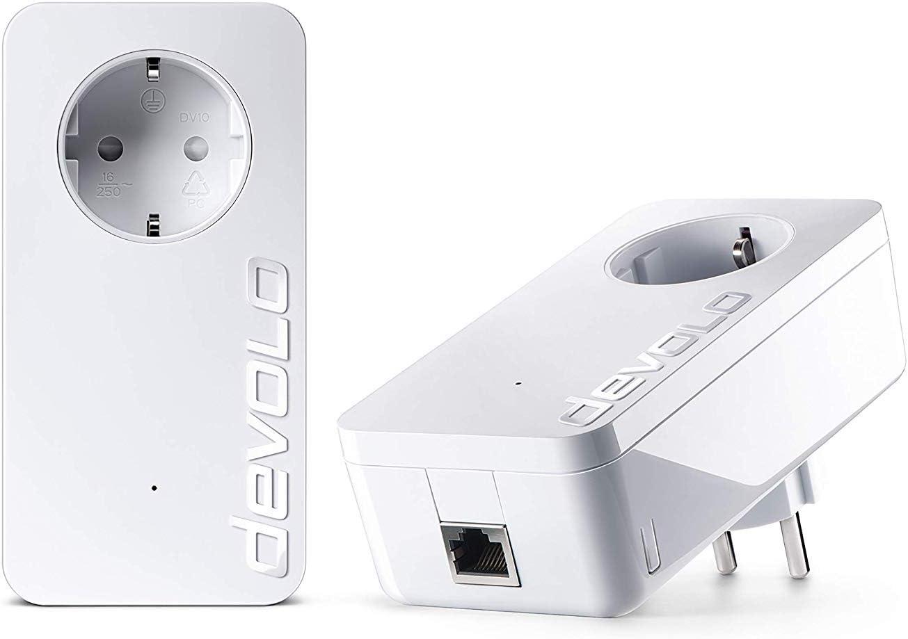 Devolo dLAN 1200+ Starter Kit - Adaptador de comunicación por línea eléctrica, blanco