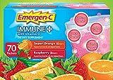 Emergen-C Immune+ System Support Dietary Supplement Drink Mix With Vitamin D, 1000mg Vitamin C – 70 packets (30 – Raspberry Flavor, 40 – Super Orange Flavor) Review
