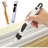 2 in1 Fenêtre Slots Brush, Gap avec Pinceau Dustpan, Fenêtre de l'écran Outils de nettoyage, Brosse de porte coulissante 2pcs/set clavier