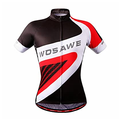 WOSAWE Cycling Jersey Bicycle Bike Cycle Short Sleeve Jersey Comfortable  Breathable Shirts Tops Jersey Only S 5b5f2ec55