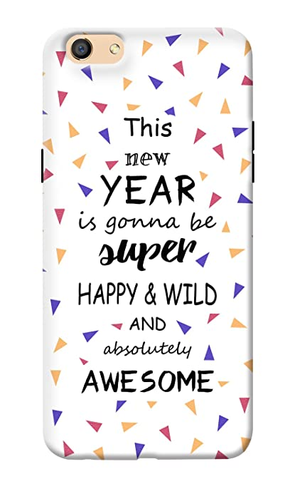 kanvascases back cover for oppo f3 new year quotes 1