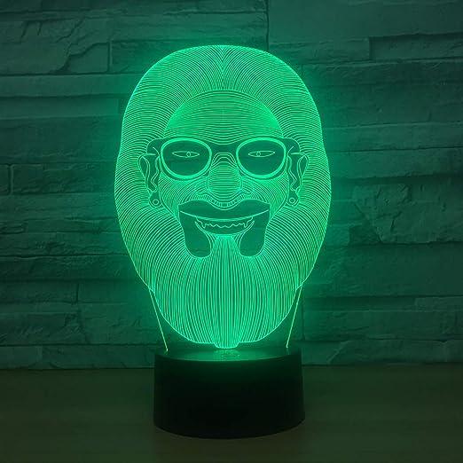 DFDLNL Hulk Acrílico 3D Luz de Noche Led Luminaria Lampe USB Mesa ...