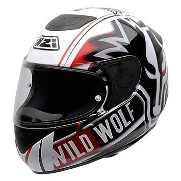 NZI Spyder IV WWB Casco de Moto, Blanco/Negro/Rojo, 60-
