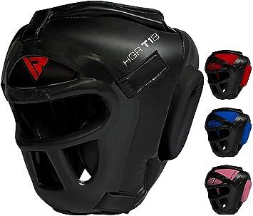 RDX Head Guard Maya Hide Leather Boxing Headgear MMA Protector Headgear  Fighting Sparring Helmet