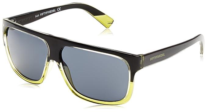 55DSL - Gafas de sol Wayfarer FF0005 para hombre, 05A Shiny ...