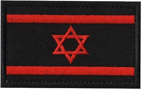 Parche de bandera de Israel táctico militar bordado 2 x 3 estrellas morales judías de David cosido en el emblema nacional de Israel: Amazon.es: Juguetes y juegos