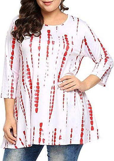 FAMILIZO_Camisetas Mujer Tallas Grandes XL~5XL Verano Originales ...