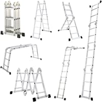 Échelle simple 6 en 1 Mctech -340/470cm-En aluminium -Multifonctionnelle, pliante et réglable