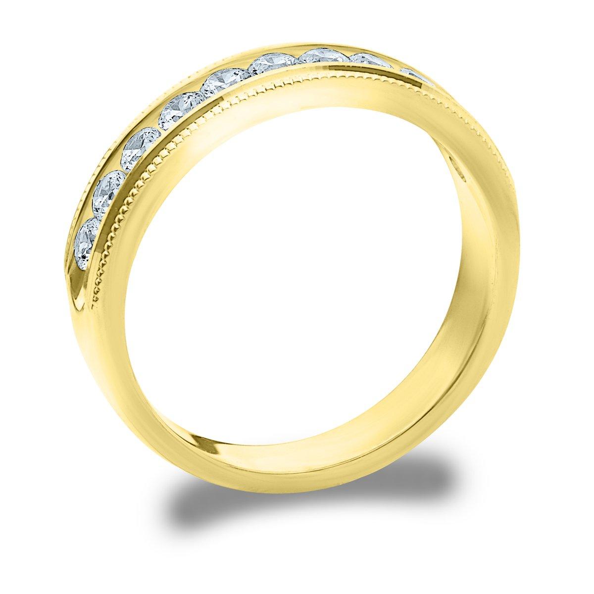 .50 CTTW Splendor Diamond Wedding Ring 1//2ct Milgrain Anniversary Band in 10K Gold