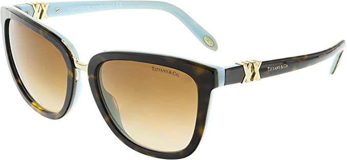 d50a23b26b Image Unavailable. Image not available for. Color  Tiffany TF4123 81343B  Havana Blue TF4123 Oval Sunglasses Lens Category 2 Size