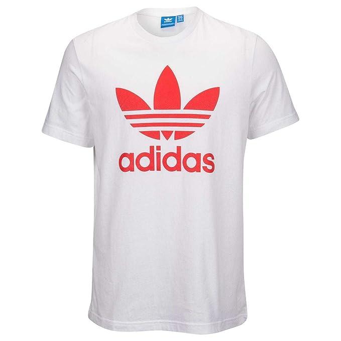 2597d0df8089 Amazon.com: adidas Men's Originals Trefoil TEE White/CORE RED (X ...