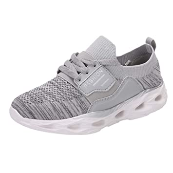 HhGold Zapatos Deportivos de Malla Transpirable con Parte Inferior de Ocio para Mujer Zapatillas de Deporte para Damas Inferiores (Color : Gris, ...