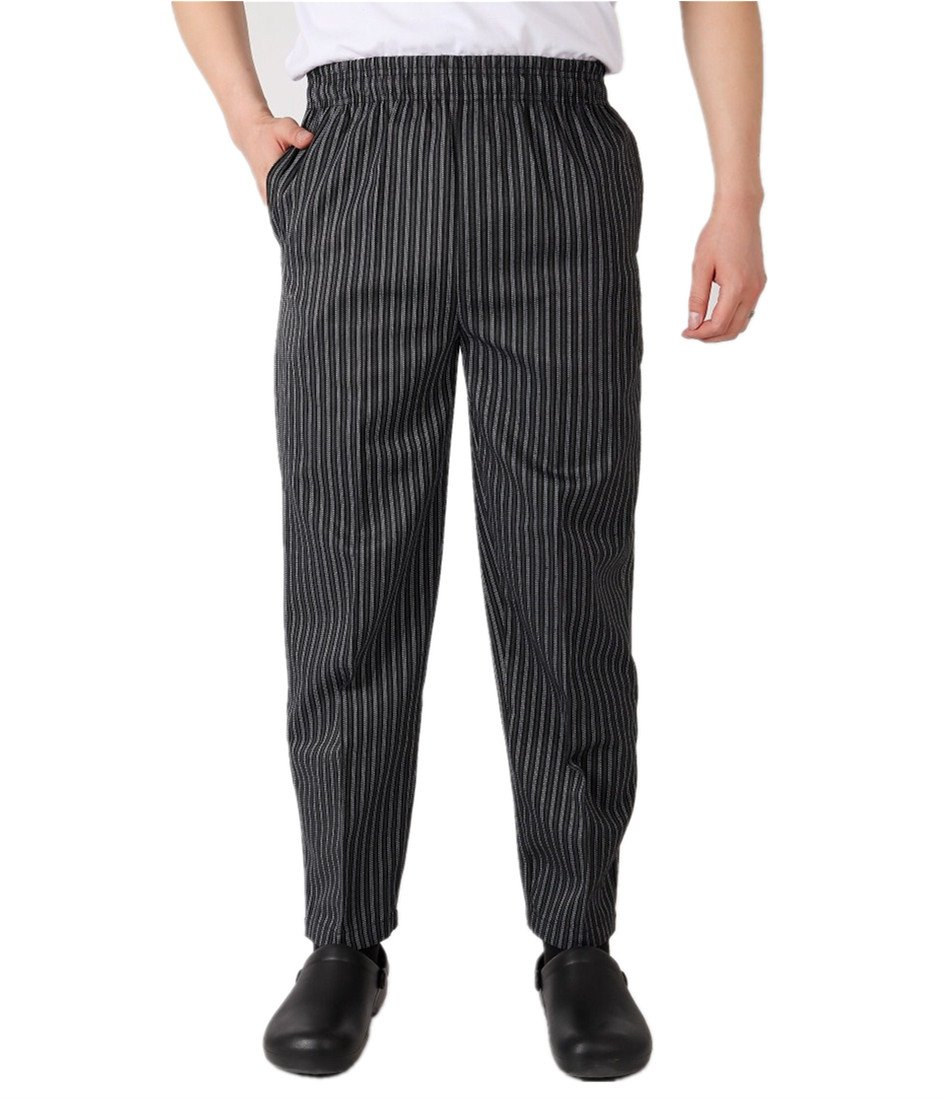 Chef Pants Baggy Work Pant Chefs Trousers Black (US:XS (Label:L))