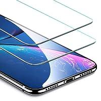 ESR Verre Trempé iPhone XR [Lot de 2] [Taille Réduite conçue pour les Coques] [Garantie à Vie], iPhone XR 2018 6,1 pouces' Film Protection Écran, Vitre Transparente Ultra Claire pour Apple iPhone XR