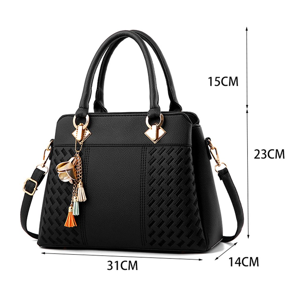 Charmore Women's Handbags Top Handle Satchel Shoulder Bags Totes by Charmore (Image #3)