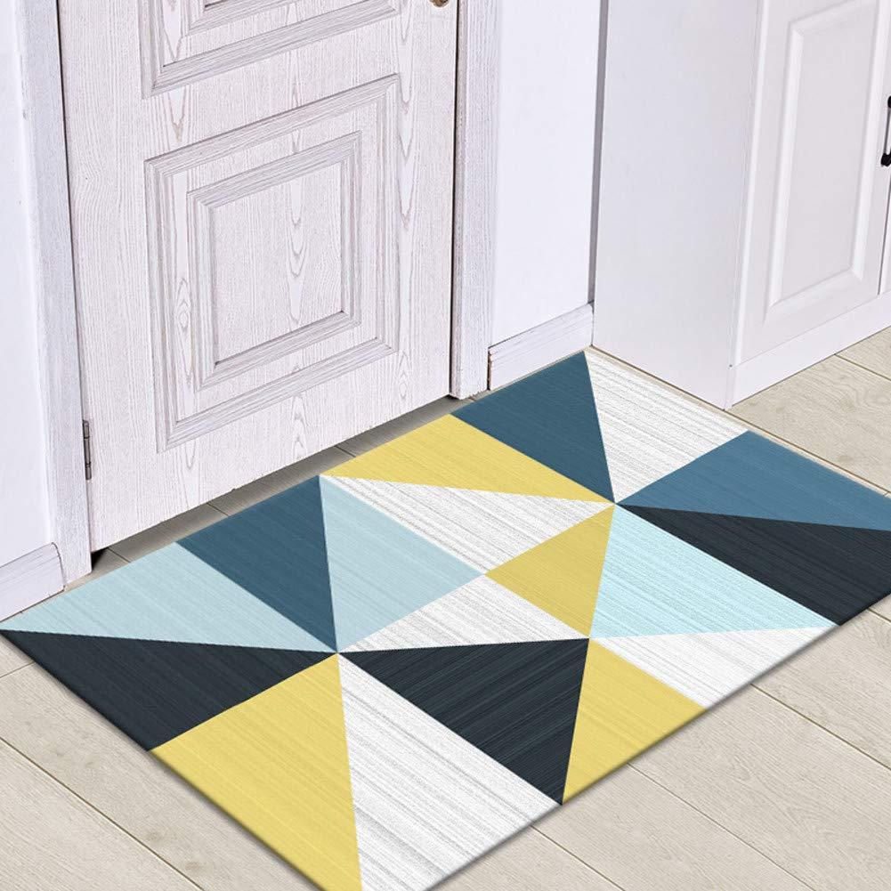 TriangleE 80x120cm(31x47inch) Door mat,Front Entrance Door mat Entrance Rug Low Profile Door mats Non-Slip mat Front Door mat-GeometryF 80x120cm(31x47inch)