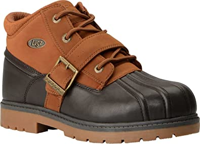 Lugz Men's Avalanche Strap Winter Boot, Dark Brown/Rust/Gum, ...