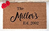 Personalized Doormat - Custom Doormat - Custom Last Name Doormat - Personalized Door mat - Personalized Welcome Mat - Hand Painted Door Mat