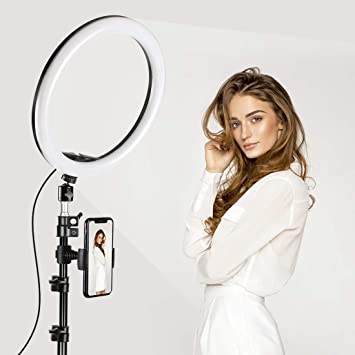TAOCOCO LEDリングライト 外径30cm/12in 撮影用ライト 美顔 自撮りライト 3色モード付き 角度調整 撮影照明用ライト 卓上ライト リモコン 高輝度LED スマホスタンド付き 10段階調光 美容化粧/YouTube生放送/ビデオカメラ撮影用 USB給電