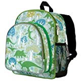 Wildkin 12 Inch Backpack, Includes Insulated, Food-Safe Front Pocket and Side Mesh Water Bottle Pocket, Perfect for Preschool, Daycare, and Day Trips – Dinomite Dinosaur