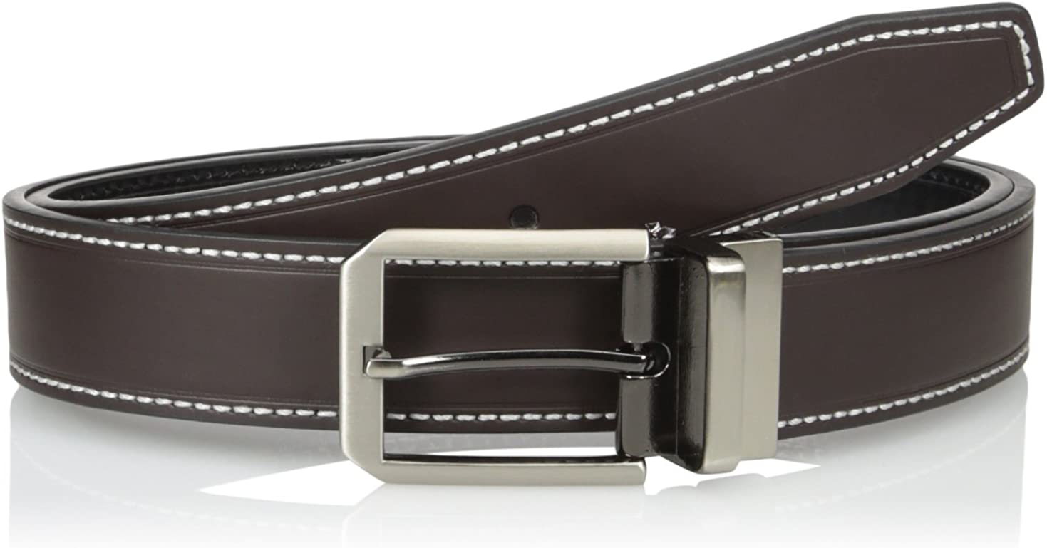 Adolfo Mens Reversible Belt with Matching Stitch